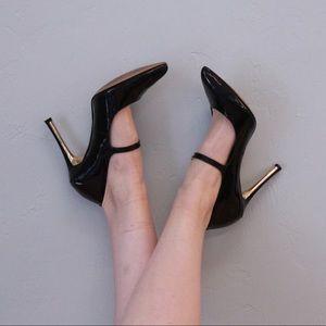 Vince Camuto Black Patent Leather Heels Sz 8.5